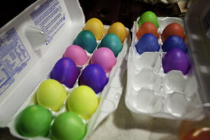 solid colored eggs